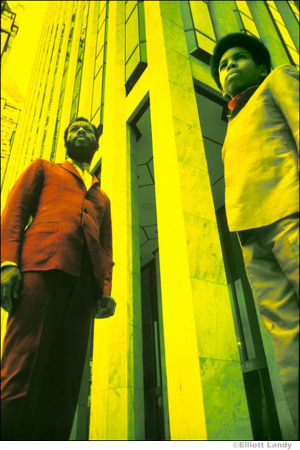 151 Ornette Coleman & son, Aero. Infrared color film. Central Park, NYC, 1969