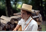 305 Bob Dylan, outside his Byrdcliffe home, Saturday Evening Post session, Woodstock, NY, 1968