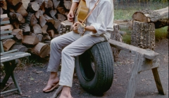 307 Bob Dylan, outside his Byrdcliffe home, Saturday Evening Post session, Woodstock, NY, 1968