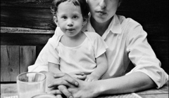 318 Bob Dylan with son Jesse Dylan, Byrdcliffe home, Woodstock, NY, 1968