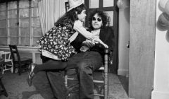 345 Bob Dylan during his daughter's party in his Bleecker St. house, w. friend, NYC, 1970