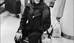 174 Janis Joplin, airport, NYC, on the way to a gig in Detroit, 1968