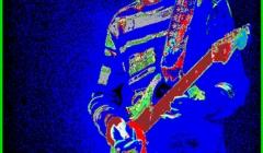 Eric Clapton, Derek & The Dominos. Pixelated photographic image