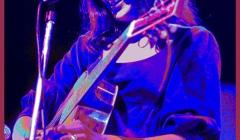 Joan Baez. Pixelated photographic image