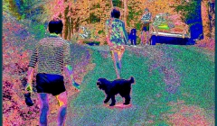The Band. Pixelated photographic image from a photo taken in Woodstock, NY