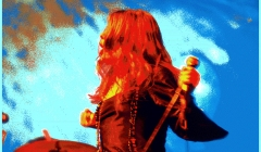 475 Janis Joplin, Big Brother and The Holding Company. Pixelated photographic image from a photo taken at The Anderson Theater, NYC, 1968