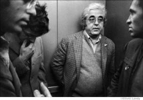 286-The-Band-Robbie-Robertson-Albert-Grossman-Bill-Graham-and-John-Simon-in-elevator-S.F.-CA-1969