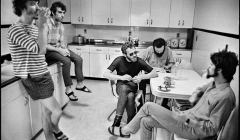 "233-The-Band-in-the-kitchen-of-""Big-Pink""-Easter-Sunday-West-Saugerties-NY-1968"
