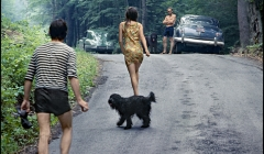 240-The-Band-Goin-to-the-swimminhole-with-Rick-Danko-Band-members-friends-Woodstock-NY-1968