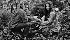 140 Van Morrison and his wife Janet Morrison, outside their home, Woodstock, NY, 1969