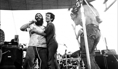 420 A fan visits Canned Heat on stage, Woodstock Festival 1969, NY