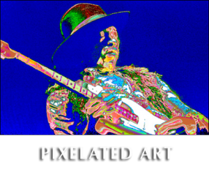 Pixelated classic rock photos