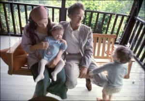 Bob Dylan and Sara Dylan with their children Anna and Jesse Dylan