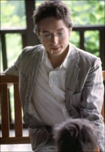 Bob Dylan on the porch of his Byrdcliffe home
