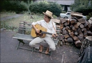 Bob Dylan, outside his Byrdcliffe home, Saturday Evening Post session, Woodstock, NY, 1968