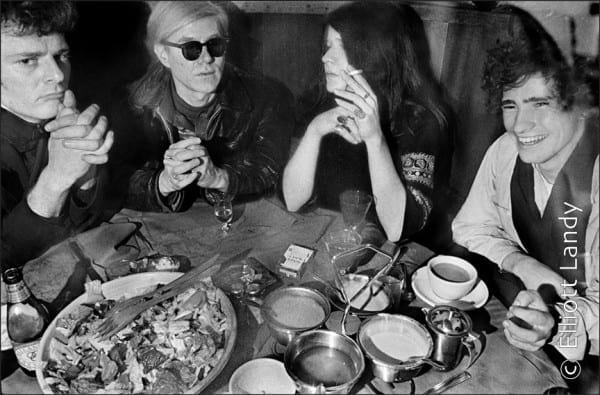 Paul Morissey, Andy Warhol, Janis Joplin, Tim Buckley, at Max's Kansas City, NYC, 1968. Photo By ©Elliott Landy, LandyVision Inc.