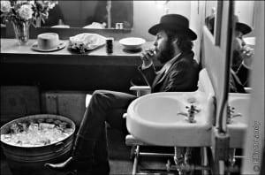 Levon Helm, backstage Fillmore East, NYC, 1969