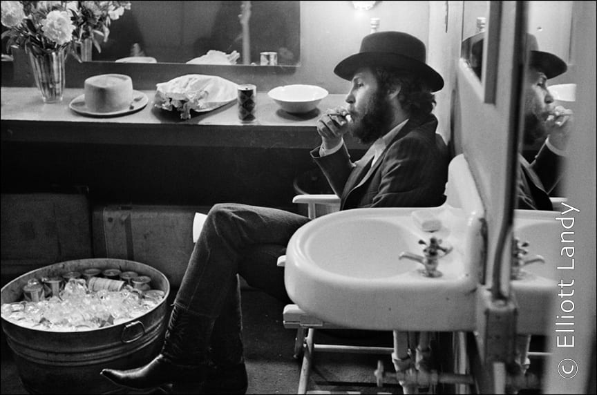 The Band. Levon Helm, backstage Fillmore East, NYC, 1969. Photo By ©Elliott Landy, LandyVision Inc.
