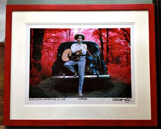 Bob Dylan Print Red Frame