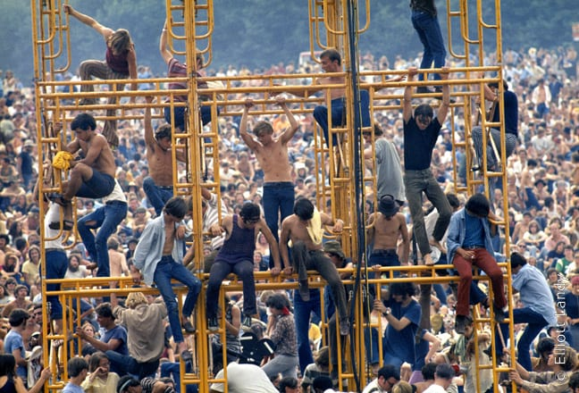 The sound tower, Woodstock Festival 1969