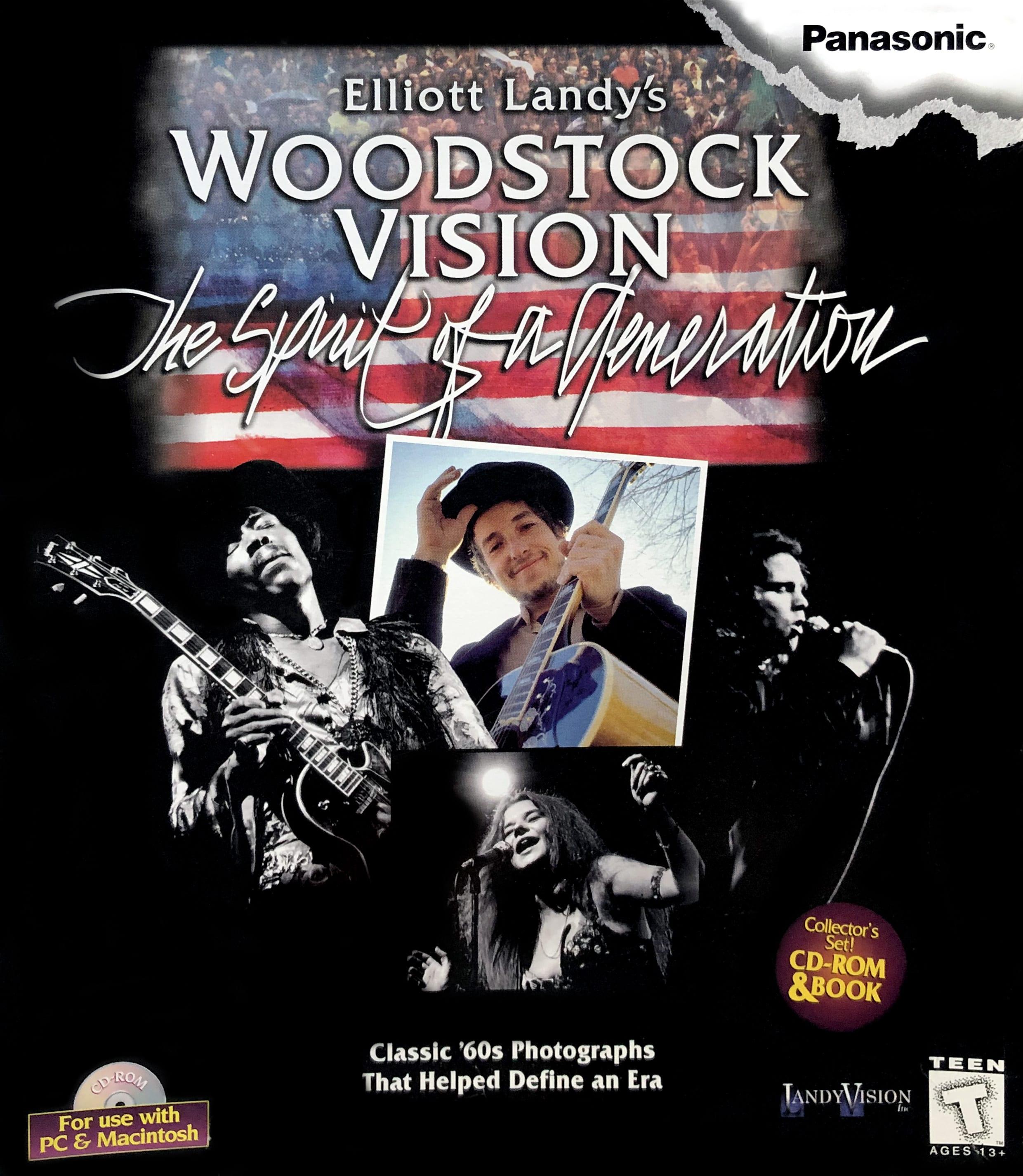 "Vintage copies of the Panasonic CD-ROM box set, ""Elliott Landy's Woodstock Vision, The Spirit of a Generation"