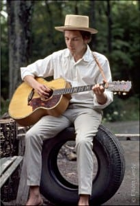Bob Dylan Prints - Outside his Byrdcliffe home, Saturday Evening Post session, Woodstock, NY, 1968.