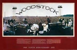 Vintage Tenth Anniversary Woodstock Poster