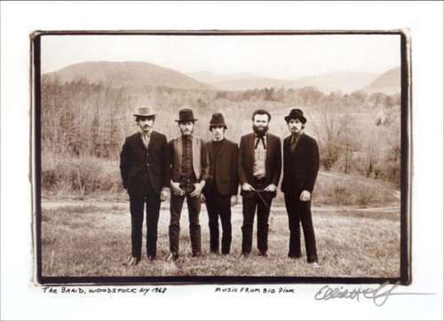 The Band at Big Pink Litho Elliott Landy