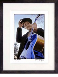 framed Bob Dylan photograph