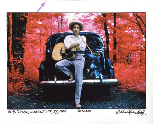 Bob Dylan, Woodstock 1968 infrared photograph