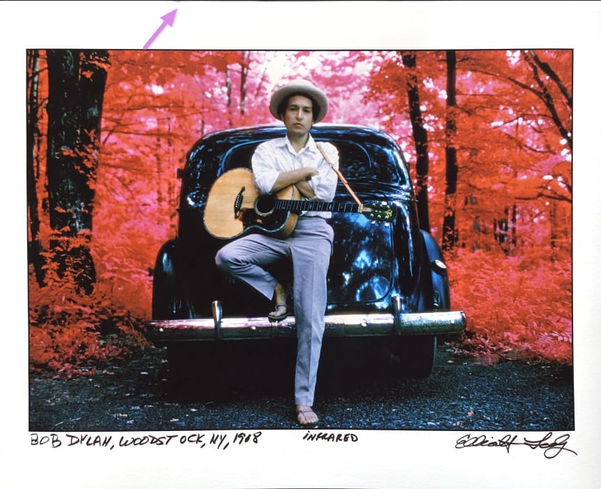Bob Dylan, Woodstock 1968 infrared photograph